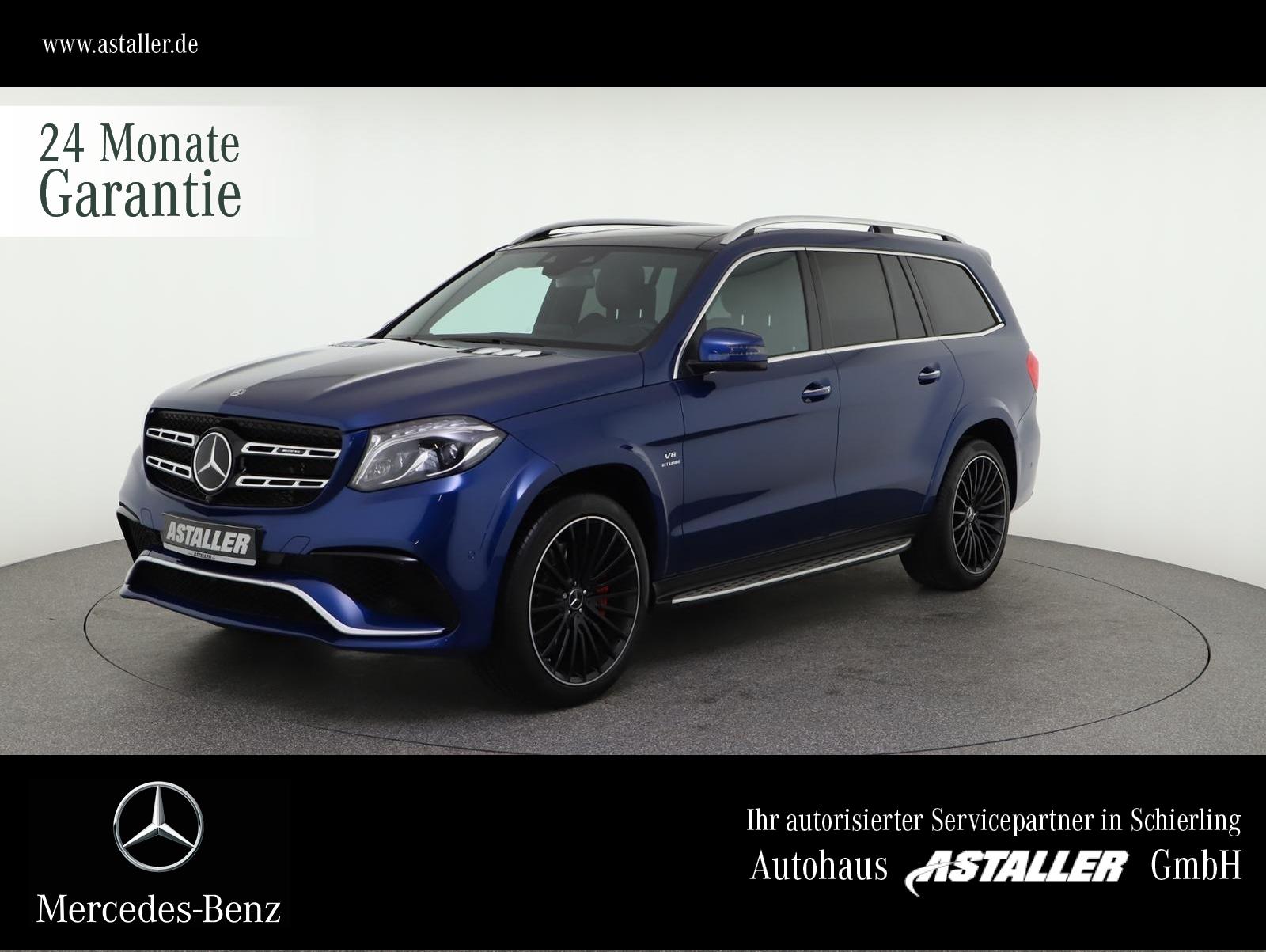 Mercedes-Benz GLS 63 AMG 4M 22''+DriverŽs+Pano+St.HZG+360°+7Si, Jahr 2019, Benzin
