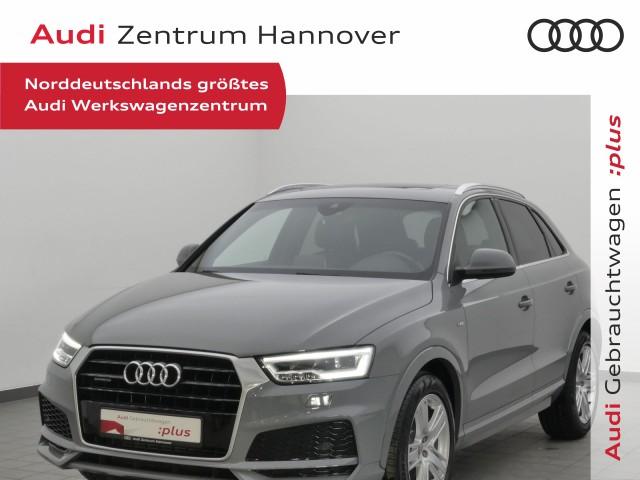 Audi Q3 2.0 TFSI qu. S-line, Pano, LED, Teilleder, Navi, Jahr 2017, Benzin