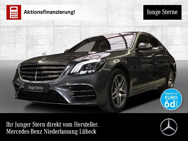 Mercedes-Benz S 560 4M AMG Airmat Stdhzg Multibeam Burmester PTS, Jahr 2017, petrol
