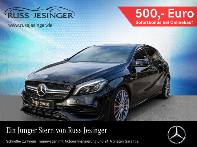 Mercedes-Benz AMG A 45 4 MATIC + DISTRONIC + PANO + NAVI + LED, Jahr 2016, Benzin