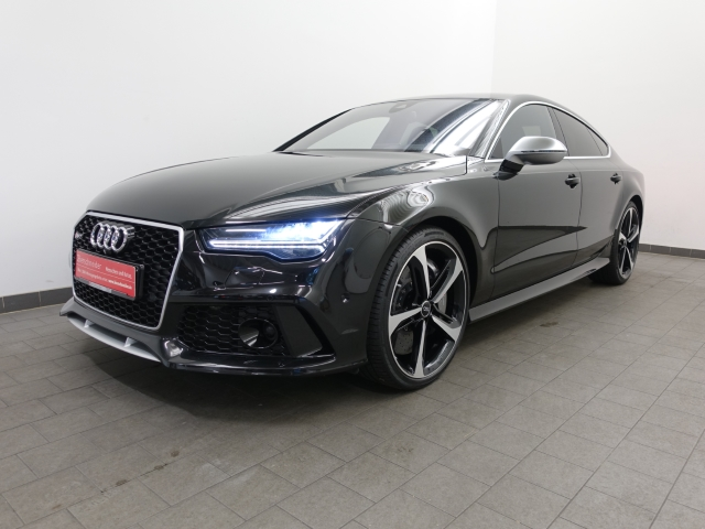 Audi RS7 Sportback 4.0 TFSI quattro 305 km h MATRIX B&O KAMERA 21 LEDER HEAD-UP NACHTSICHT ASSISTENZ CONNECT DAB, Jahr 2015, Benzin
