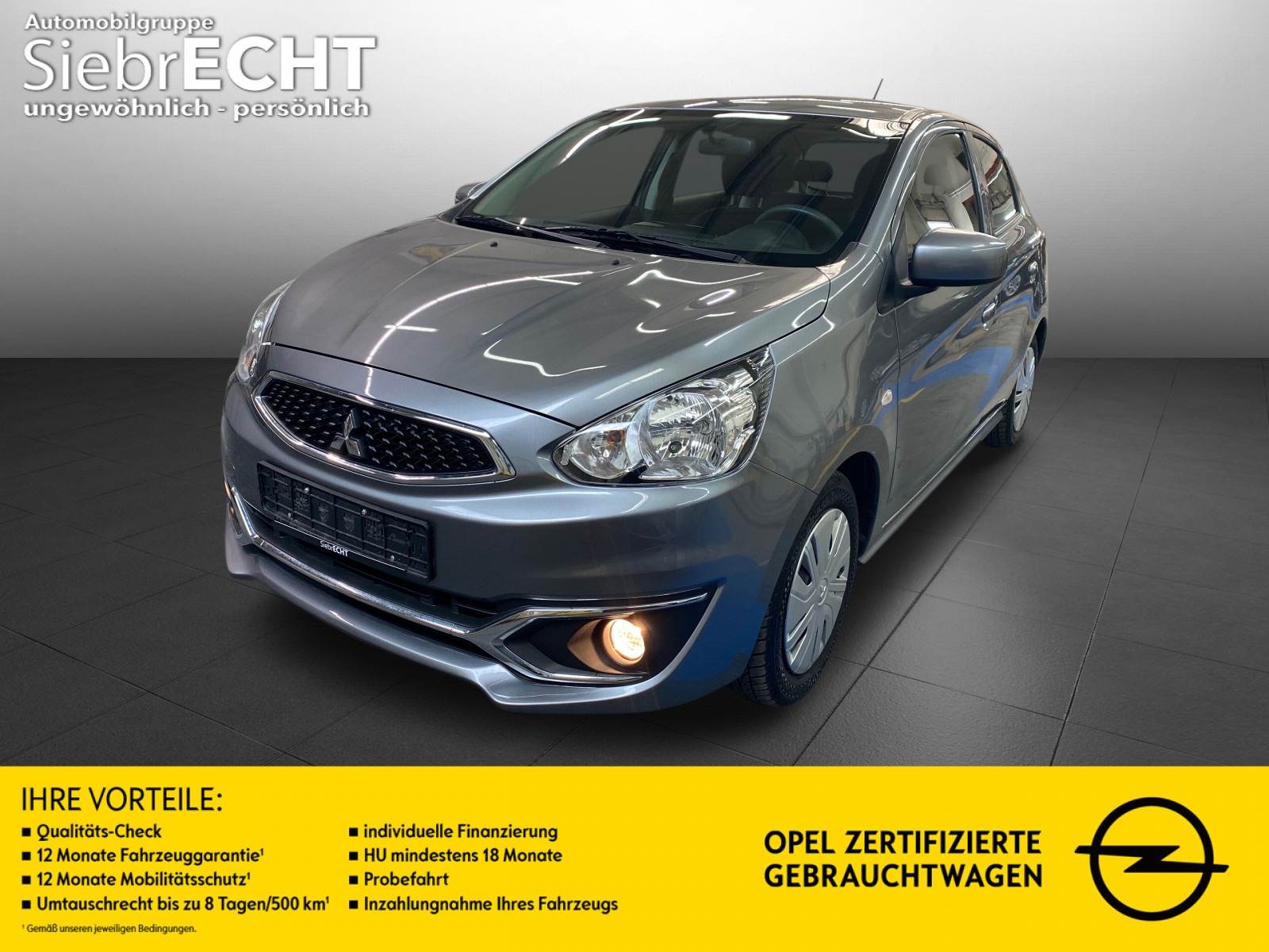 Mitsubishi Space Star Intro Edition Klima, Jahr 2017, Benzin