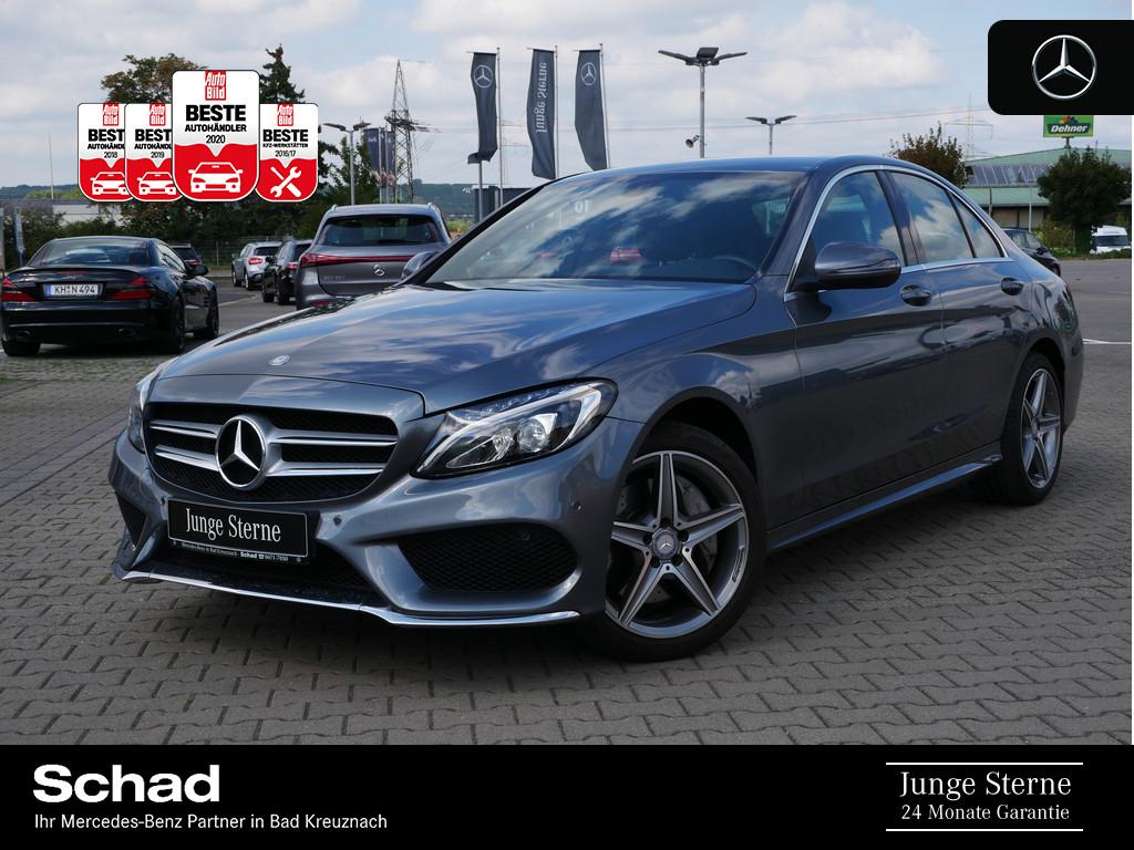 Mercedes-Benz C 400 4M +AMG+NAVI+LED+PDC+AHK+KAMERA+SHZ+LEDER+, Jahr 2016, Benzin