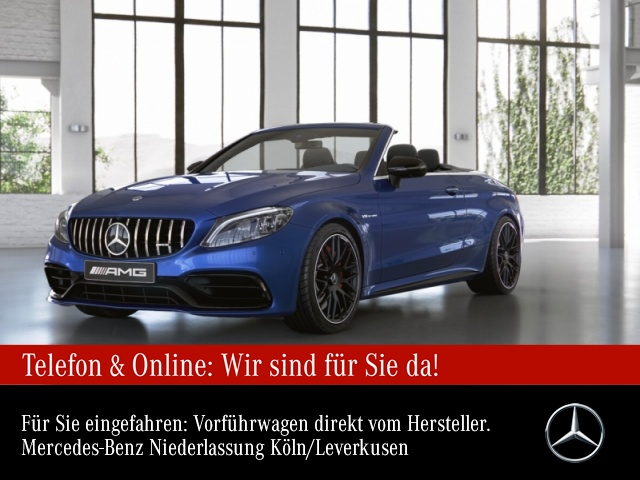 Mercedes-Benz C 63 S Cabriolet Sportpaket Navi LED Klima, Jahr 2021, Benzin