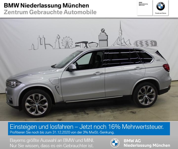 BMW X5 xDrive40e iPerformance Head-Up Xenon RTTI, Jahr 2017, Hybrid