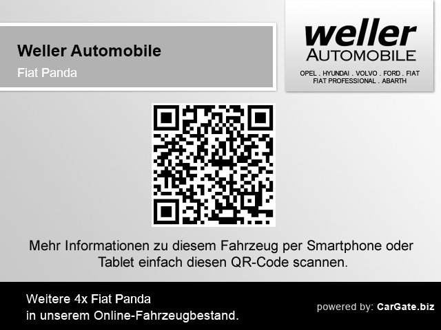 Fiat Panda 1.2 EASY Parksensoren Klima CD-Mp3 Kopfairbag, Jahr 2017, Benzin