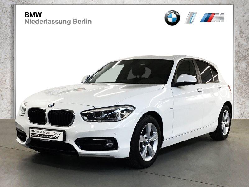 BMW 118i 5-Türer EU6 Aut. Sport Line LED Navi Alarm, Jahr 2018, Benzin