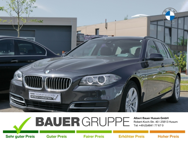 BMW 520 d Touring Leder Navi Keyless Kurvenlicht HUD Niveau Fernlichtass. AHK-klappbar El. Heckklappe, Jahr 2015, Diesel