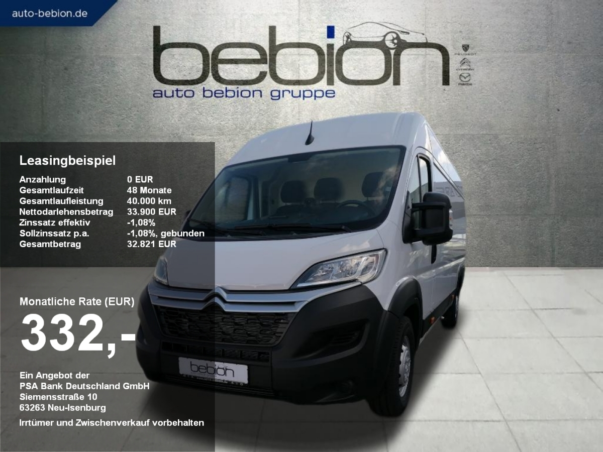 Citroën JUMPER 35 L4H2 Heavy S&S Club Klima Bluetooth Te, Jahr 2021, Diesel