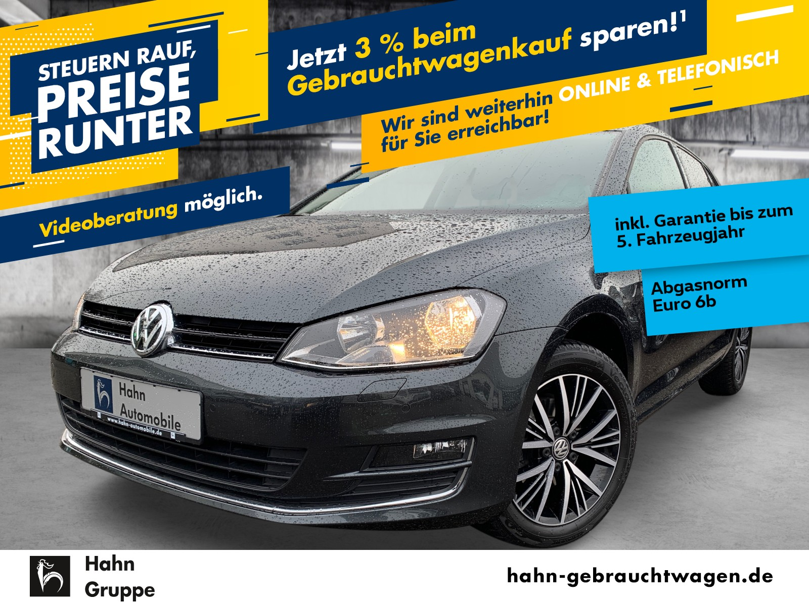 Volkswagen Golf VII ALLSTAR 1,2TSI Park Sitzhz Tempomat MFL, Jahr 2016, Benzin