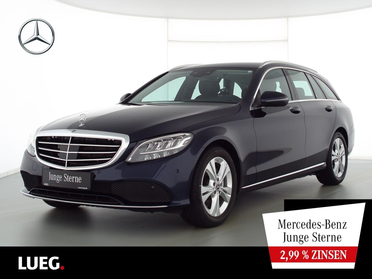 Mercedes-Benz C 200 d T Exclusive+Navi+LED-HP+Distr+EHeckk+Mem, Jahr 2020, Diesel