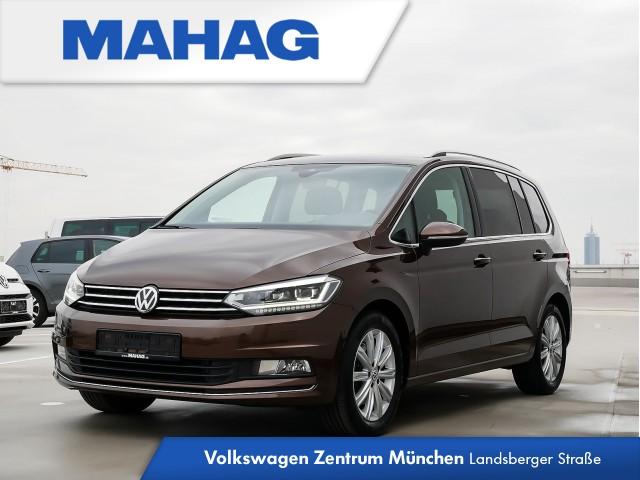 """Volkswagen Touran Highline 2.0 TDI DSG - Navigationssystem """"Discover Pro"""" - Rückfahrkamera - ergoActive Sitze mit 14-Wege-Einstellungund Massagefunktion vorn - LED-Scheinwerfer - Stauassistent, Ausparkassistent sowie """"Side Assist Plus"""" inkl. """"Lane Assist"""", Jahr 2017, diesel"""