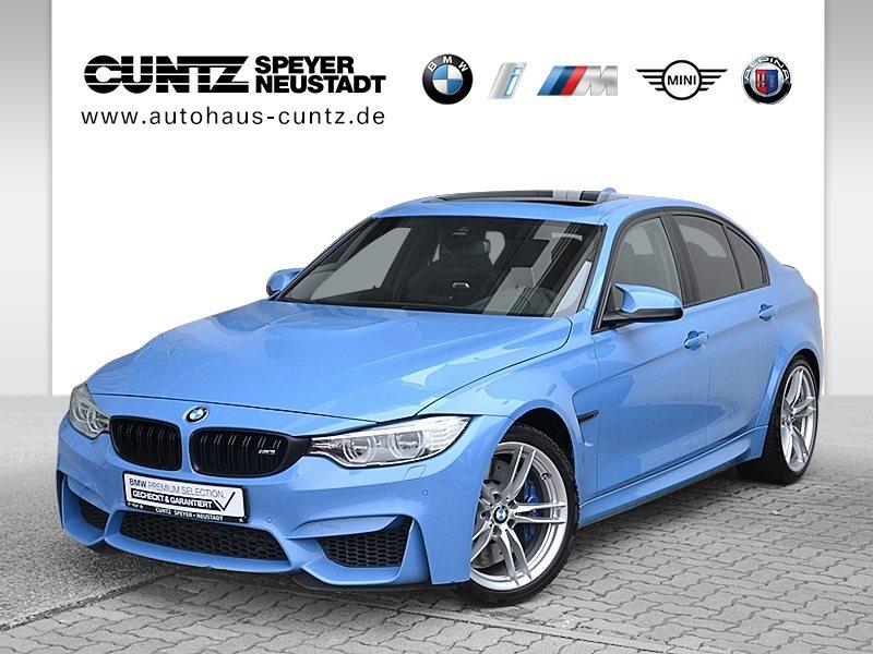 BMW M3 Limousine M Drivers P. LED GSD Navi Prof., Jahr 2015, petrol