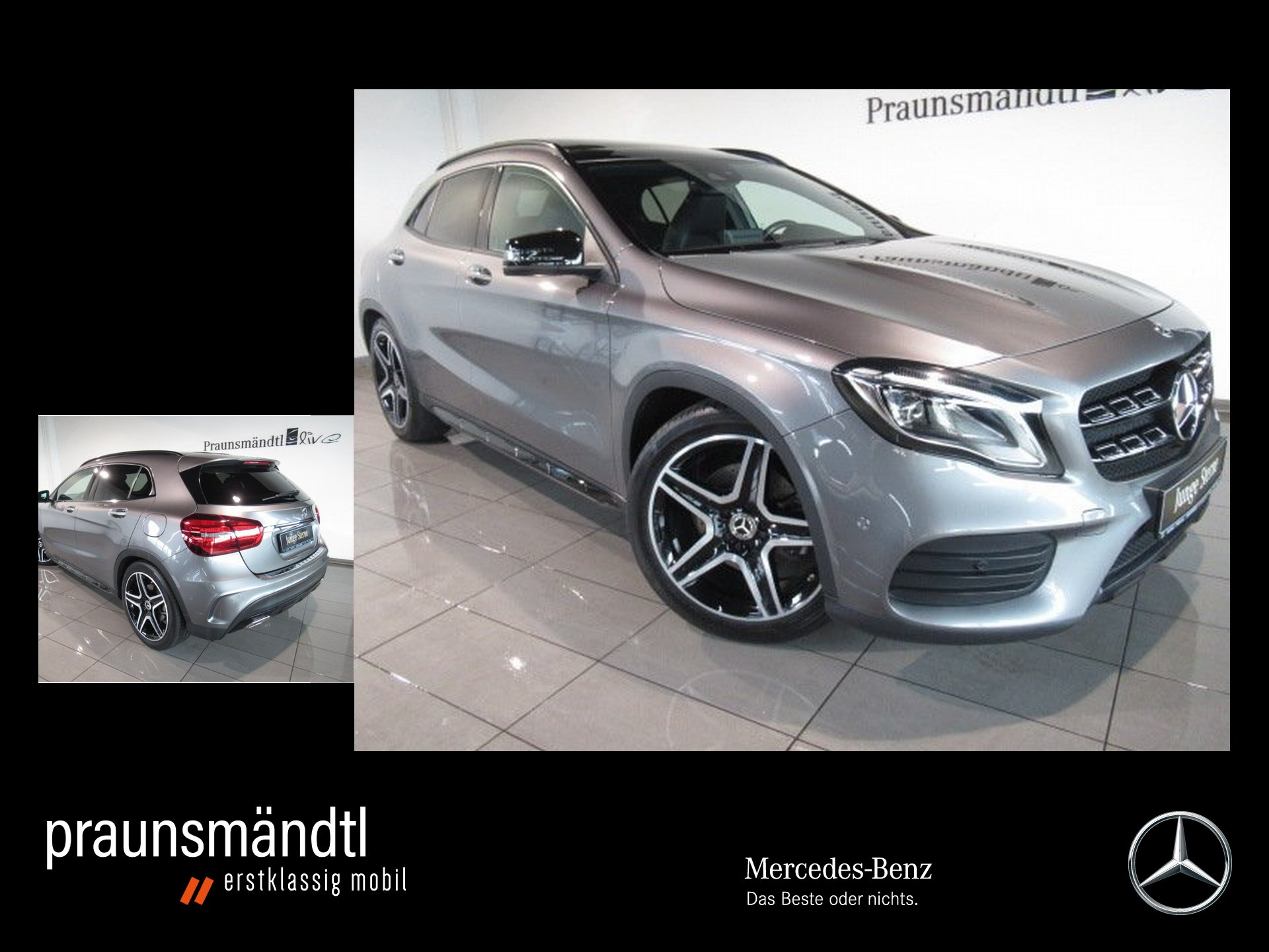 Mercedes-Benz GLA 250 4M AMG Exclusiv Pano/LED/AHK/Com/Sound, Jahr 2017, Benzin