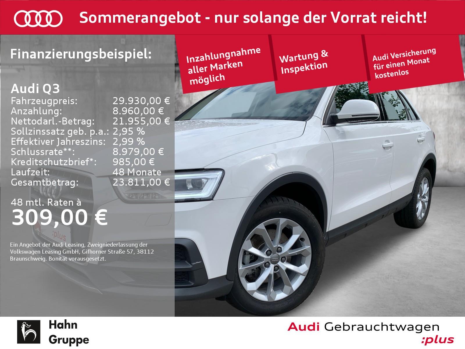 Audi Q3 2.0 TDI qua. S-trc Navi LED CAM Sitzh Klima, Jahr 2018, Diesel