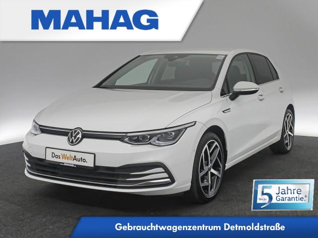 Volkswagen Golf VIII STYLE 1.5 TSI NaviPro LEDPlus HUD DigitalCockpit Sprachbed. DAB+ Bluetooth induk.Ladefunk. 18Zoll 6-Gang, Jahr 2020, Benzin