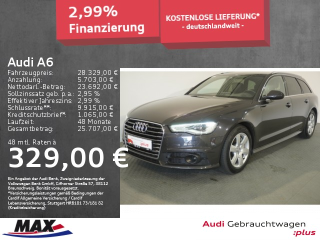 Audi A6 Avant 3.0 TDI XEN+NAVI+AHK+LUFT+HUD+BOSE+KAMERA, Jahr 2017, Diesel