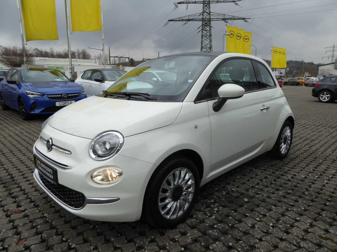 Fiat 500 1.2 8V Lounge GLASDACH BLUETOOTH, Jahr 2017, Benzin
