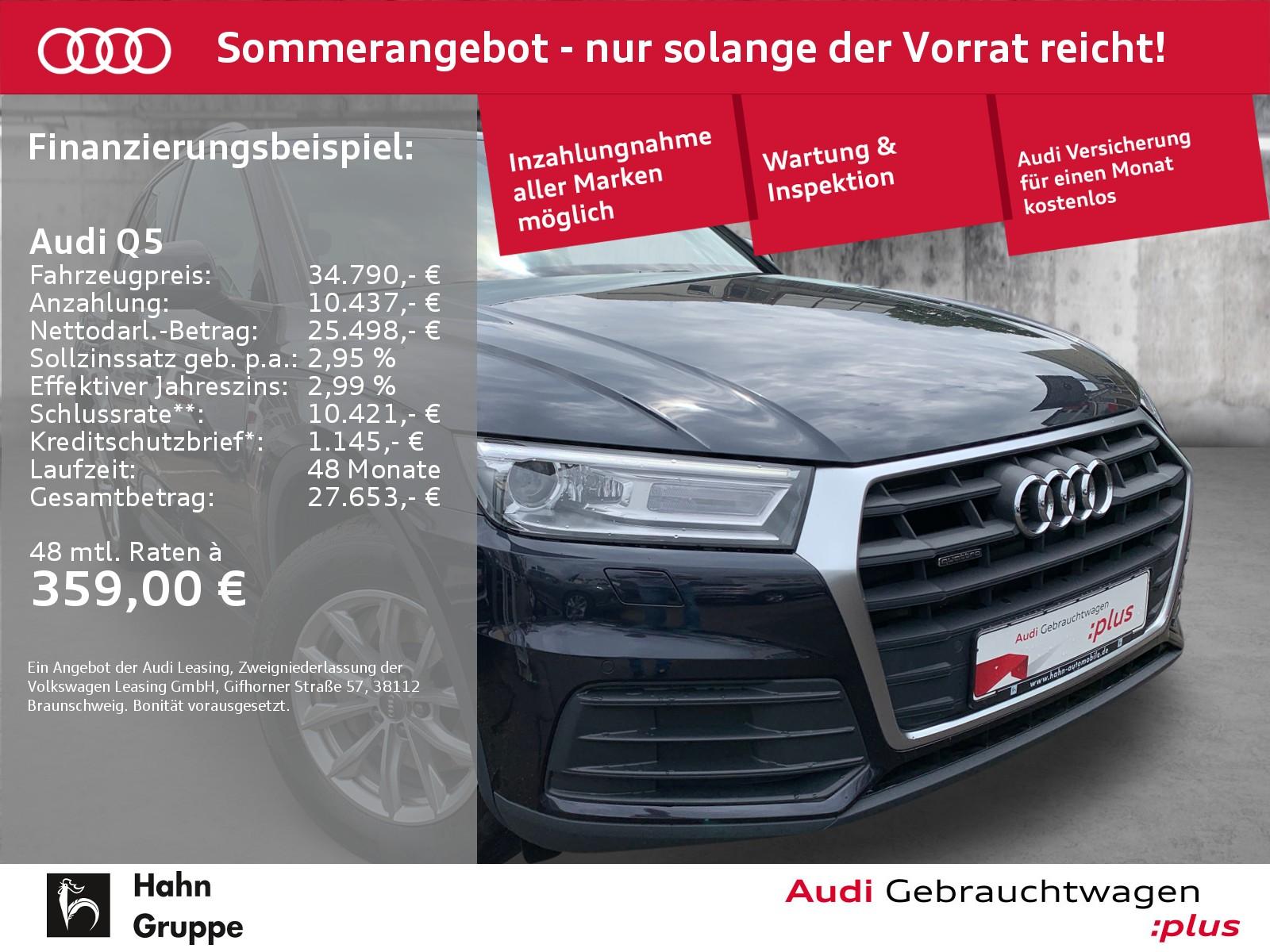 Audi Q5 2.0 TFSI qua. S-trc Navi Xen AHK CAM Pano, Jahr 2018, Benzin