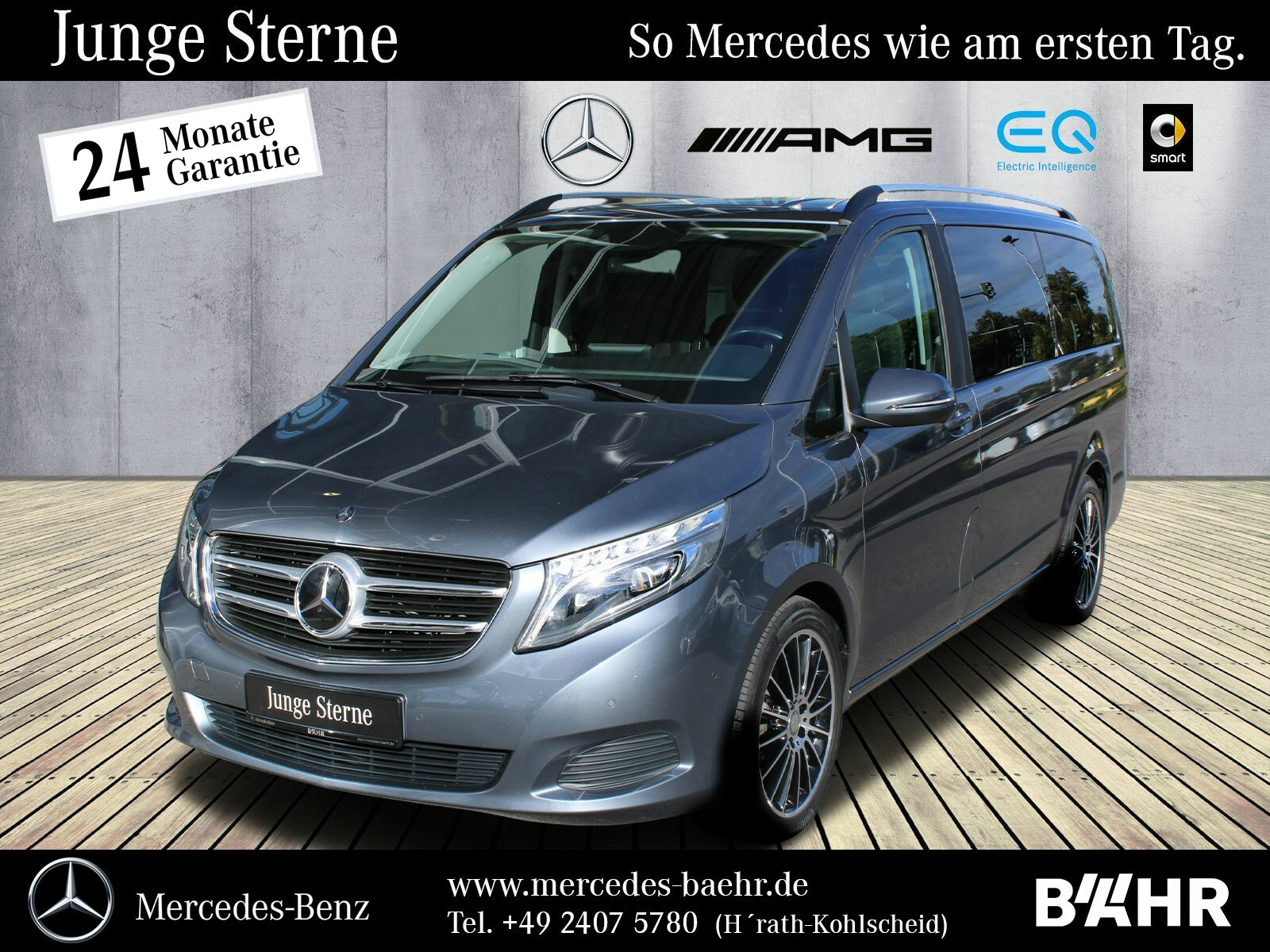 """Mercedes-Benz V 250 d Lang Sport-Paket/Comand/LED-ILS/LMR-19"""", Jahr 2016, diesel"""