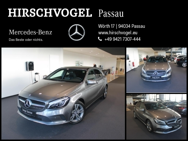 Mercedes-Benz A 160 SCORE+Urban+LED+PDC+SHZ+Audio 20 CD, Jahr 2016, petrol