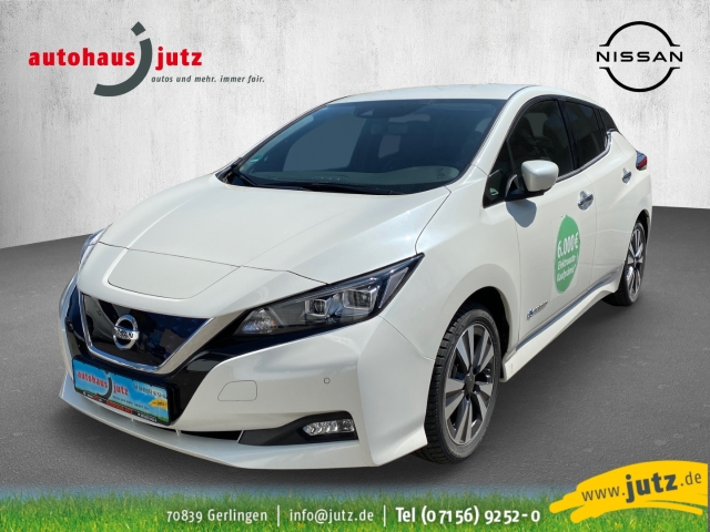 Nissan Leaf Tekna Leder LED Navi Keyless ACC Parklenkass. Fernlichtass. PDCv+h LED-hinten LED-Tagfahrlicht, Jahr 2019, Elektro