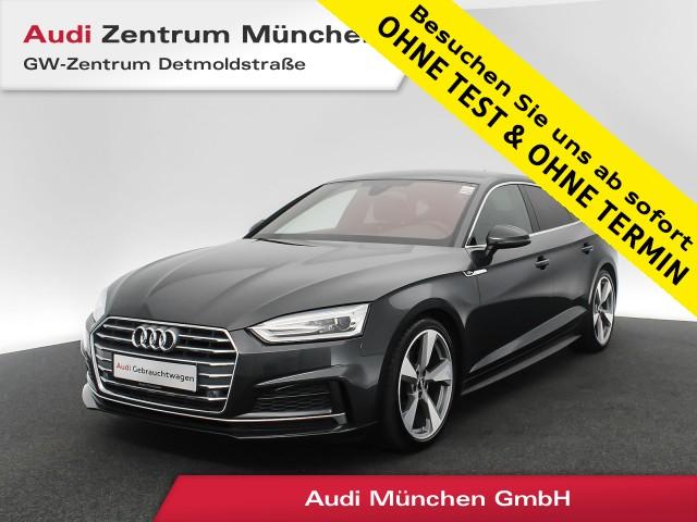 "Audi A5 Sportback 40 TFSI Sport S line 19"" Virtual Teilleder Navi DAB Sitzhz. PDC+ S tronic, Jahr 2019, petrol"