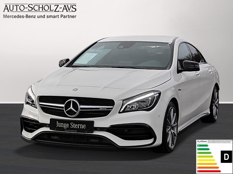 Mercedes-Benz CLA 45 AMG 4M Coupé AMG Night LED Navi Parkass., Jahr 2016, petrol