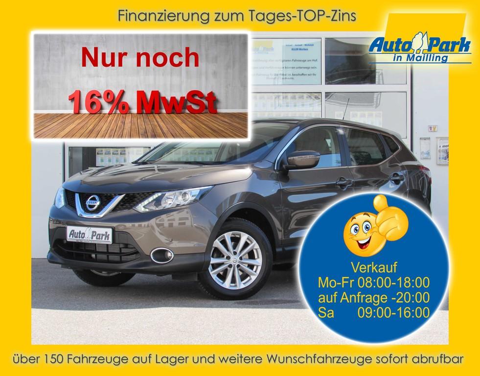 Nissan Qashqai 1.2 ACENTA NAVI~SHZ~2xPDC~ALU~RFK~DAB~BT, Jahr 2014, Benzin