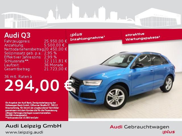Audi Q3 1.4 TFSI sport S-tronic *S-line*LED*Pano*Navi*, Jahr 2017, Benzin