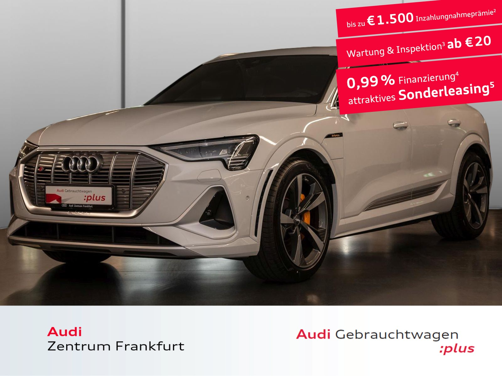 Audi e-tron S Sportback MatrixLED VC AHK DAB B&O Navi, Jahr 2020, Elektro
