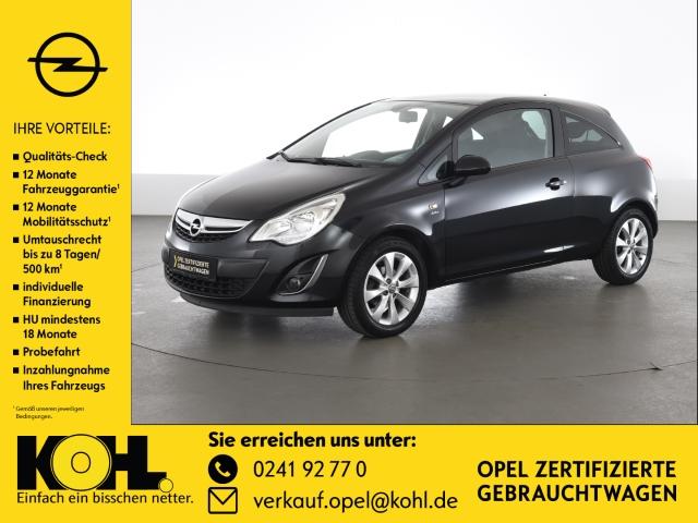Opel Corsa Active 1.2 Klimaautom SHZ Temp PDC CD USB MP3 Regensensor, Jahr 2013, Benzin