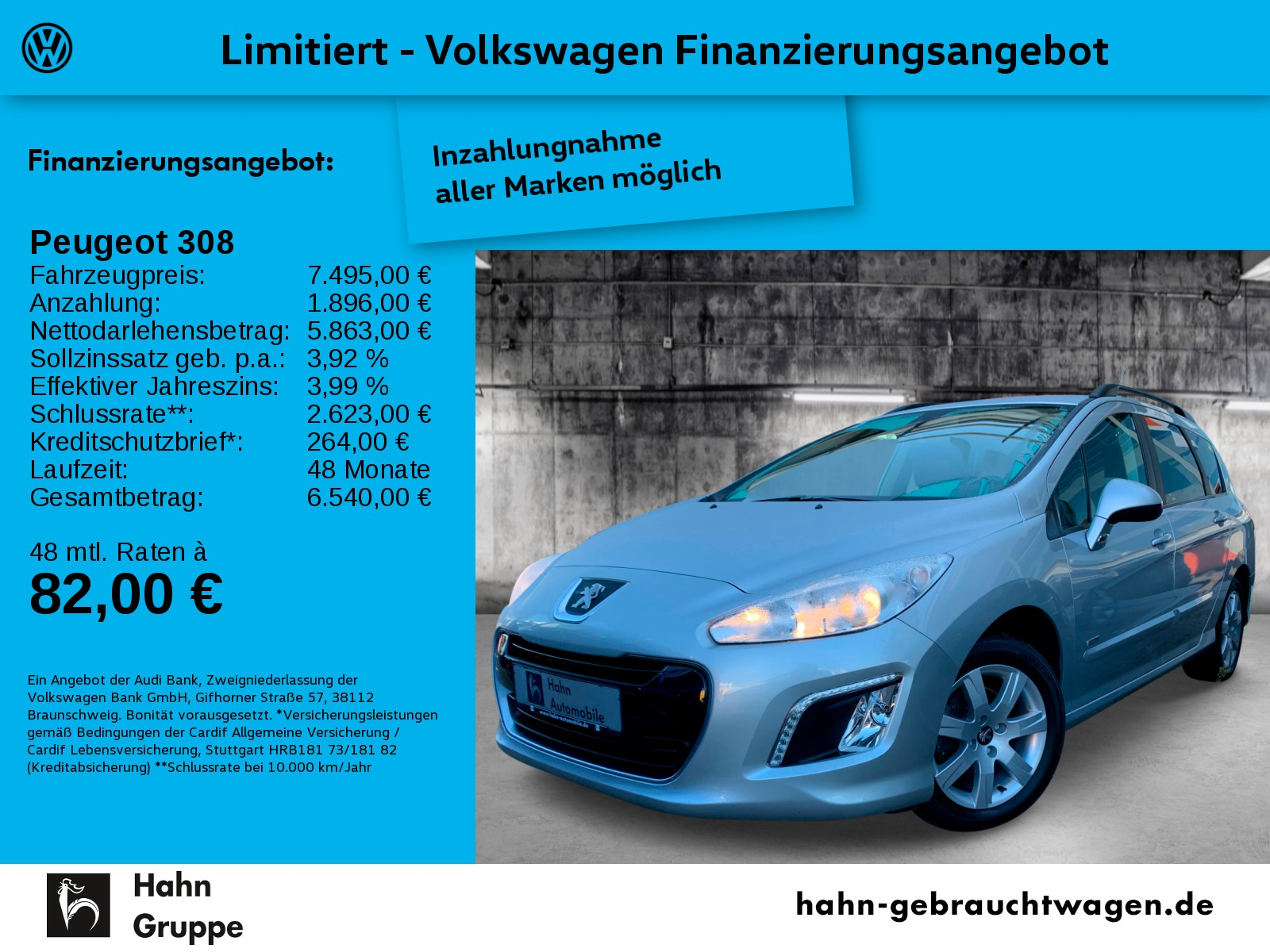 Peugeot 308 1.6 16V Style Einpark Climatr Tempo, Jahr 2014, Benzin
