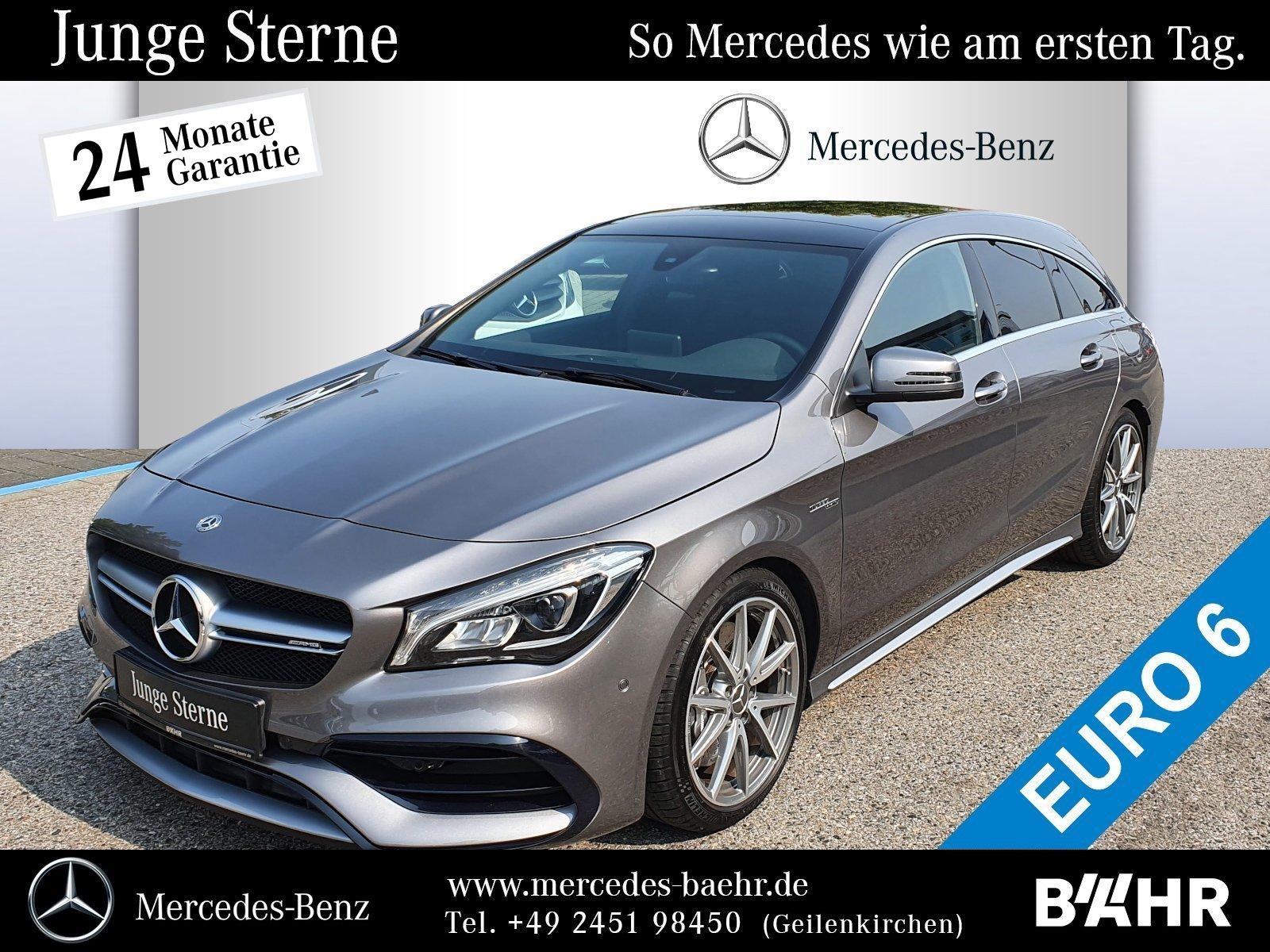 "Mercedes-Benz CLA 45 AMG 4M SB Navi/LED-High/Pano/RFK/LMR-18"", Jahr 2017, petrol"