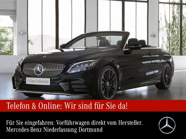 "Mercedes-Benz C 180 Cab. AMG Sportpaket AMG 19"" LED PTS Tempomat, Jahr 2021, petrol"