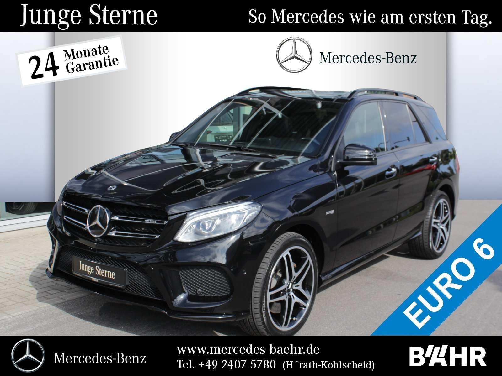 "Mercedes-Benz GLE 43 AMG 4M Night/Comand/ILS/Pano/360°/AHK/21"", Jahr 2017, petrol"