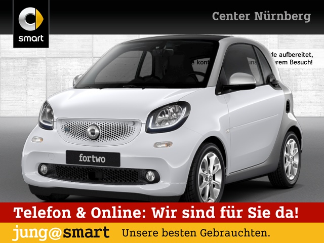 smart fortwo coupé passion cool&Media SHZ Pano LED, Jahr 2017, Elektro