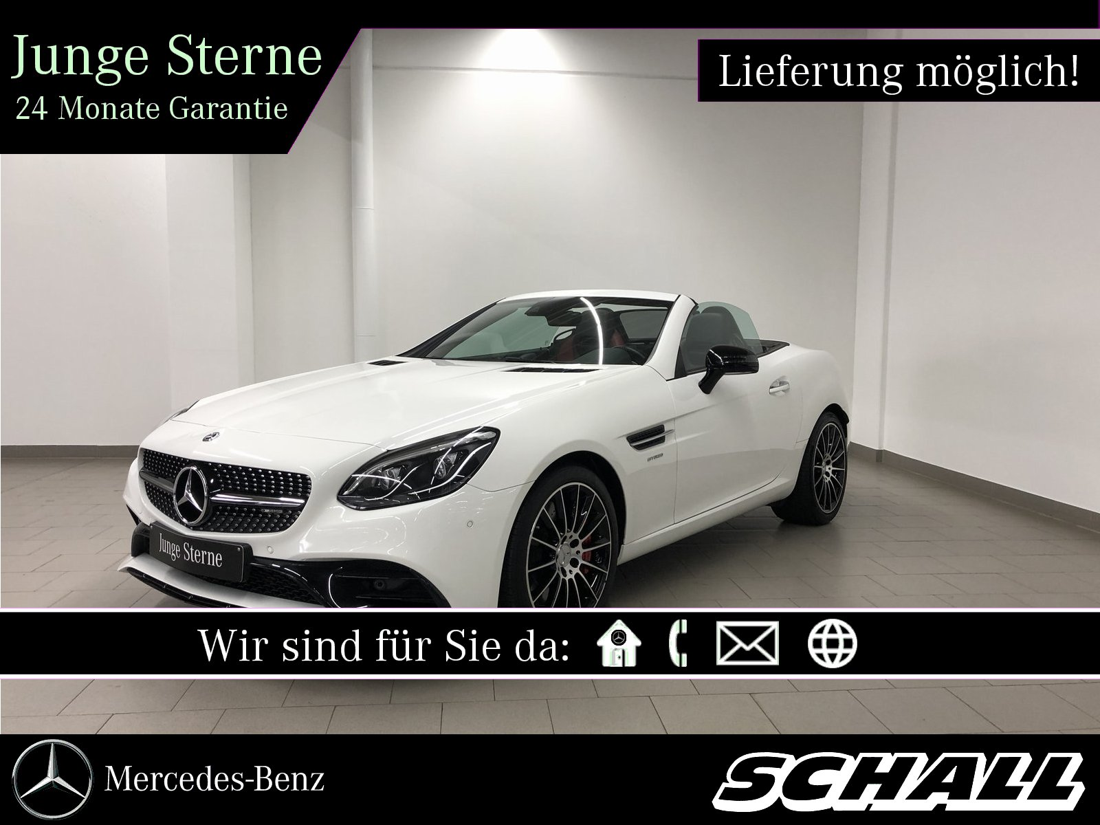 "Mercedes-Benz SLC 43 AMG NIGHT+AIRSCARF+LED+KAMERA+18"" AMG+KEY, Jahr 2017, petrol"