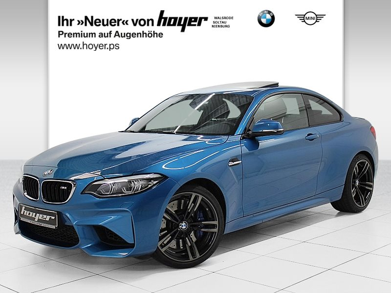 BMW M2 Coupé HK HiFi DAB LED WLAN GSD RFK Tempomat, Jahr 2018, petrol