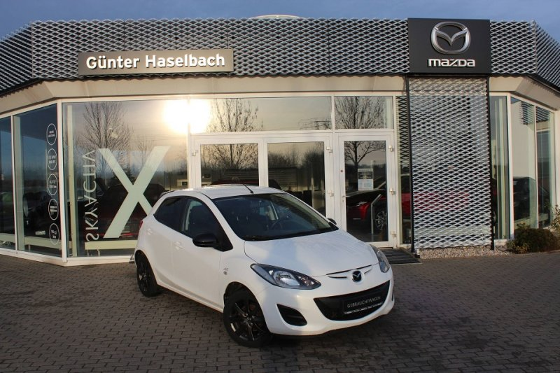 Mazda 2 SoMo IRO Klima, 1. Hand, Mazda Scheckheft, Jahr 2014, petrol
