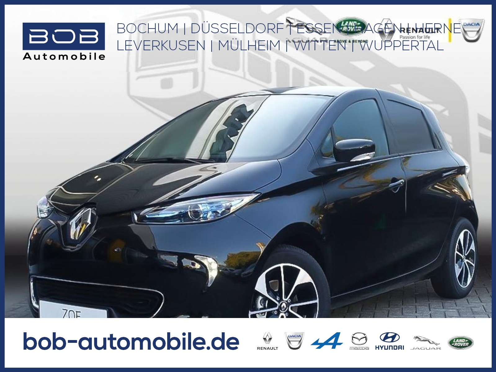 Renault ZOE LIMITED Batteriemiete Z.E 40 NAV PDC KLIMA, Jahr 2018, Elektro