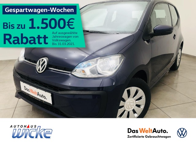 Volkswagen up! 1.0 move up! Klima EU6, Jahr 2016, Benzin