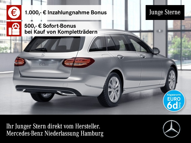 Mercedes-Benz C 180 T Avantgarde LED Kamera Spurhalt-Ass SpurPak, Jahr 2019, Benzin