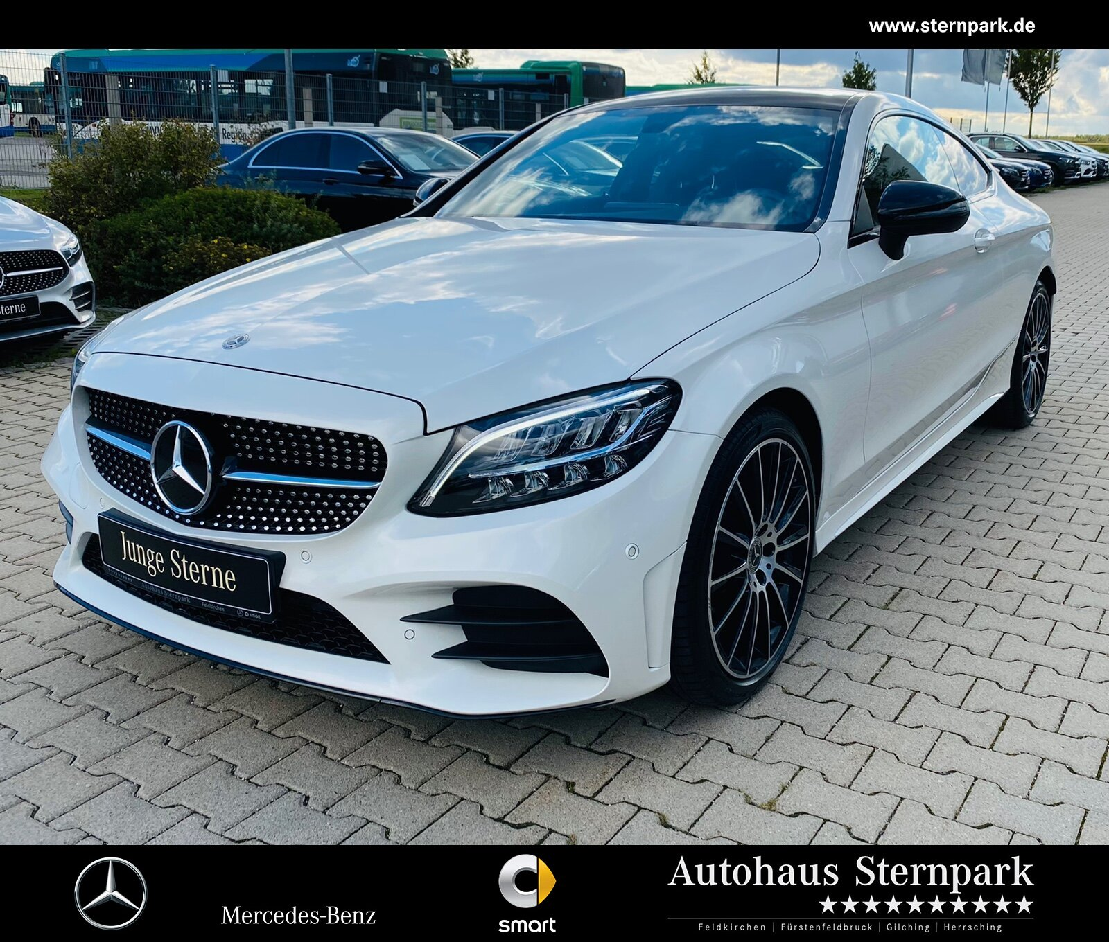 Mercedes-Benz C 200 Coupé AMG Navi+PANO+NIGHT+LED+BURMESTER+, Jahr 2020, Benzin