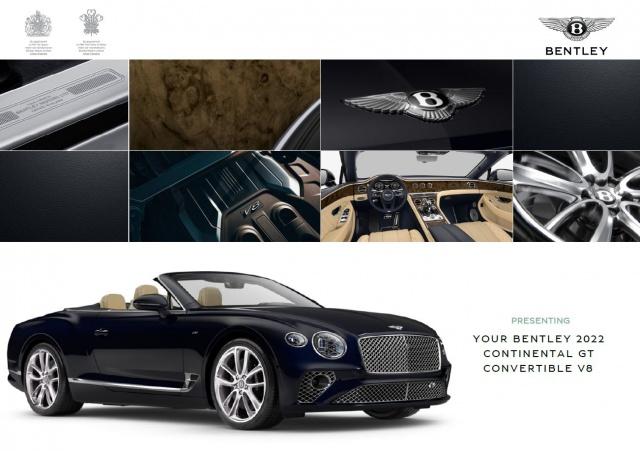 Bentley New Continental GTC V8 ELEGANT / VOLLAUSSTATTUNG, Jahr 2021, Benzin