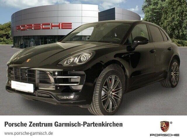 Porsche Macan Turbo Leder Navi AD El. Panodach ACC Parklenkass. Dyn. Kurvenlicht e-Sitze, Jahr 2014, petrol