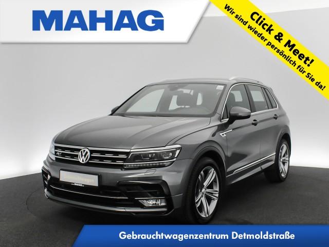 Volkswagen Tiguan 2.0 TDI Highline R line Navi LED ActiveInfo AHK eKlappe AppConnect Sitzhz. ParkPilot DynLightAssist FrontAssist 19Zoll 6-Gang, Jahr 2017, Diesel