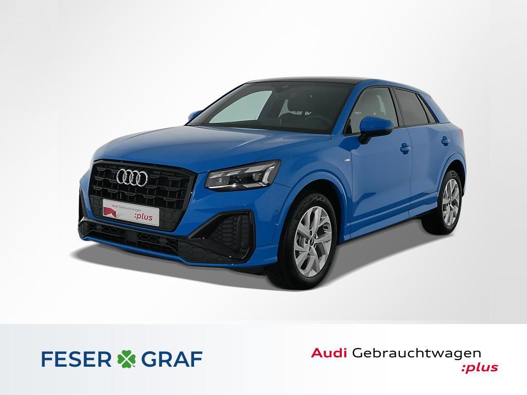 Audi Q2 S line 35TFSI Matrix/Pano/ACC/AHK/17 Zoll, Jahr 2021, Benzin