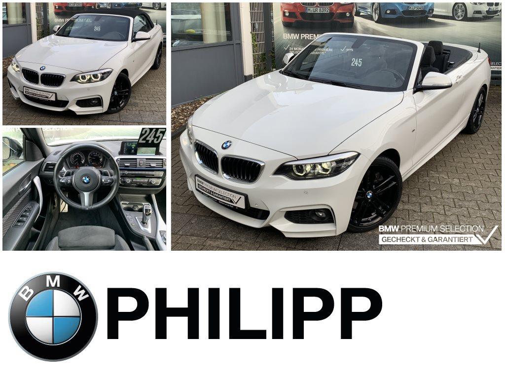 BMW 230i Cabrio M Sportpaket Navi Pro HiFi RFK Lord., Jahr 2018, Benzin