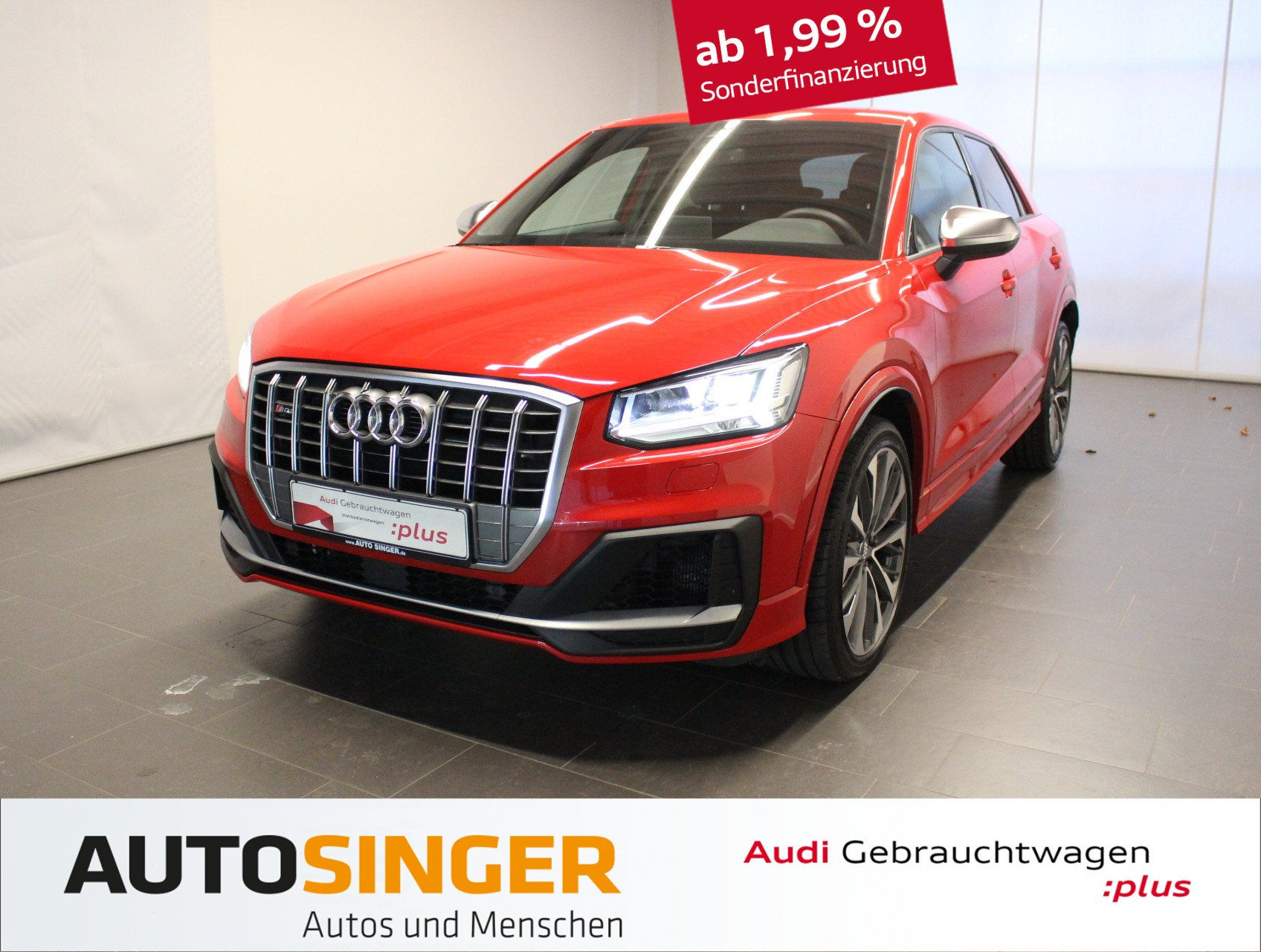 Audi SQ2 qua *Navi*Alcantara*ACC*R-Cam*Alu19'*, Jahr 2019, petrol